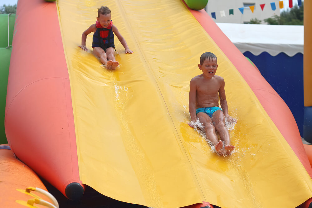 July 4th Inflatable Waterslide Party Ideas