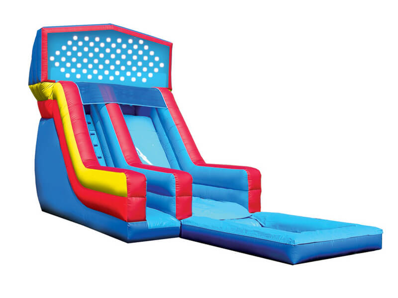 Backyard Waterslide 16' water slide inflatable, boca raton inflatable water slide for rent
