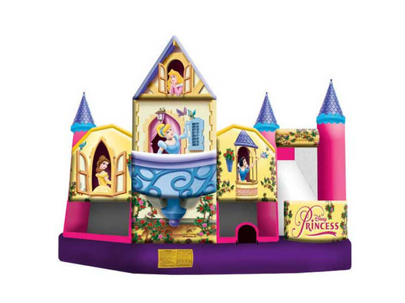 Disney princess bounce house princess bouncy house rental for Princess housse