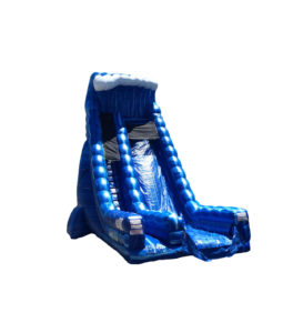 30' Blue Crush Dual Wide Single Lane Dry Slide
