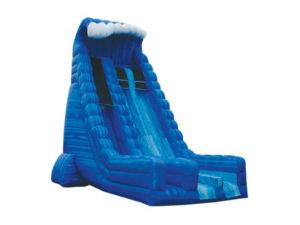 30' Blue Crush 2 Lane Dry Slide
