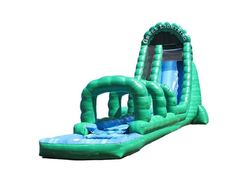 27' Green Lightning Slip & Slide