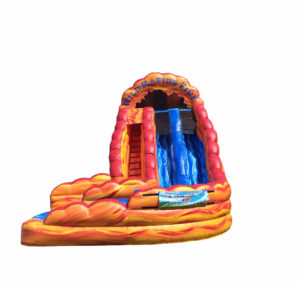 20' Wild Rapids Fire Dual Lane Water Slide