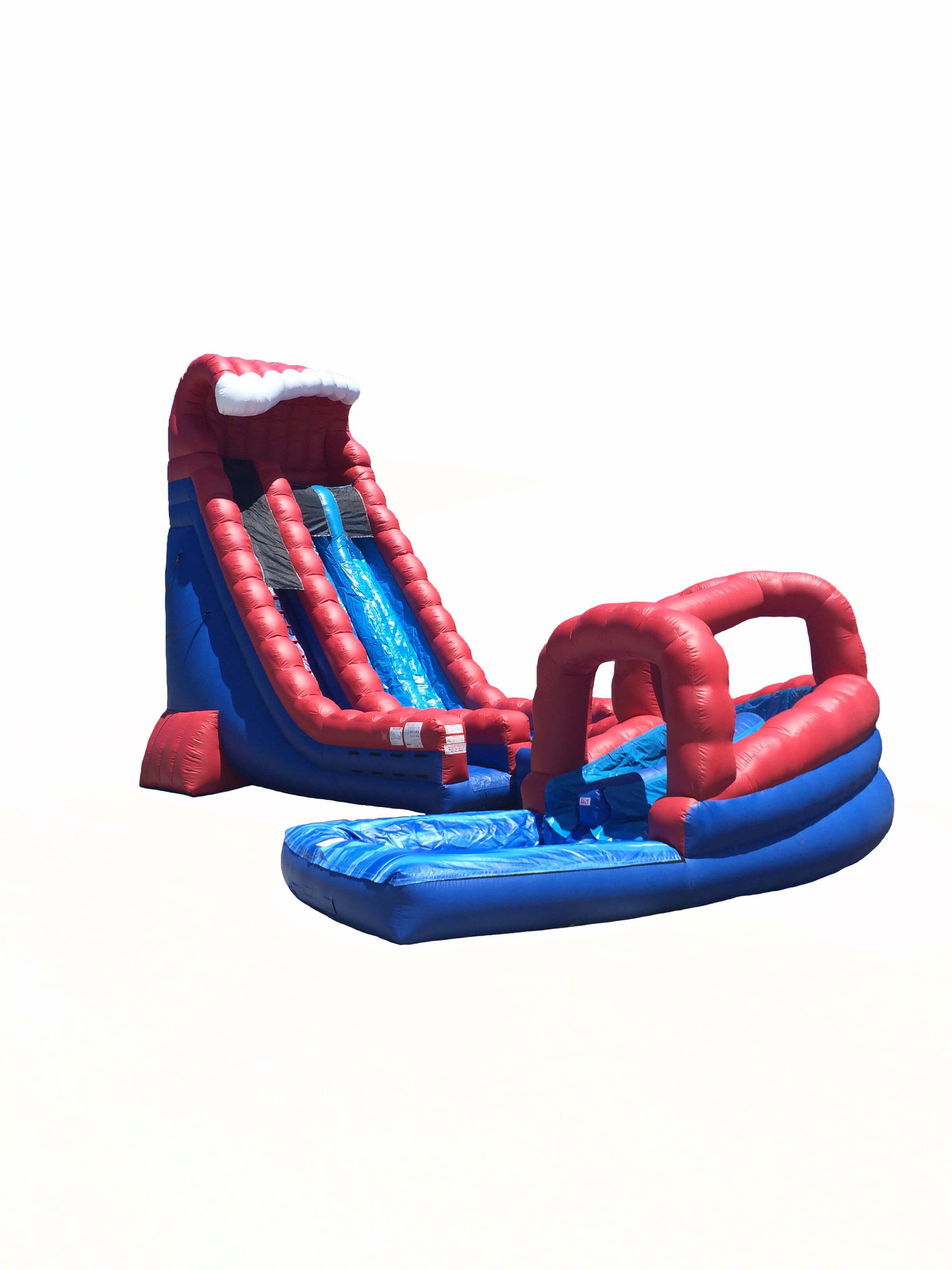 30u2032 red white and blue crush slip u0027n slide - Inflatable Water Slide