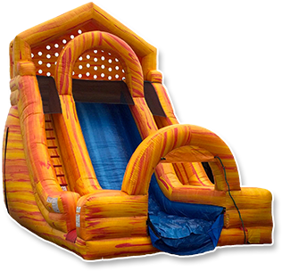 Product Description. An inflatable bouncer for kids who love sports! This Little Tikes backyard bounce house features a basketball hoop with ball and a slide - more fun and more creative play than a traditional bouncy house.